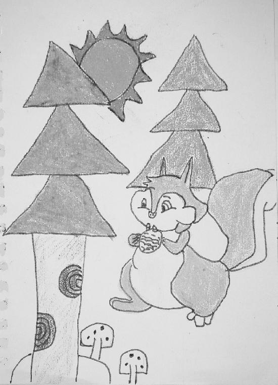 素描松树画法步骤