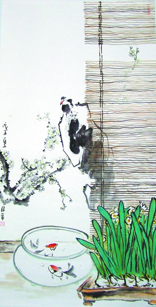 """""""庆祝建党90周年焦作市中国画名家五人展""""在红纱艺术中心举行!"""