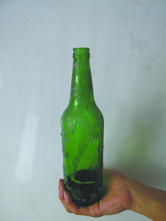 """啤酒瓶""""变""""花瓶"""