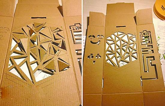 废旧纸箱手工制作冰箱