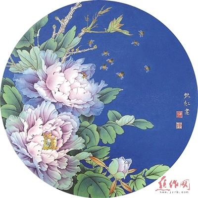 紫韵融春(工笔画)毋艳红 作